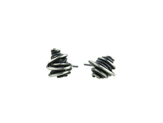 Chaos Titanium Stud Earrings, 100% Hypoallergenic, Sensitive ear