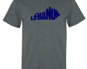 Lebanon Kentucky Word Art Hometown Pride Adult Unisex Tshirt