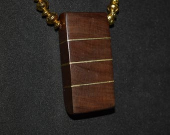 Maple and Brass Necklace