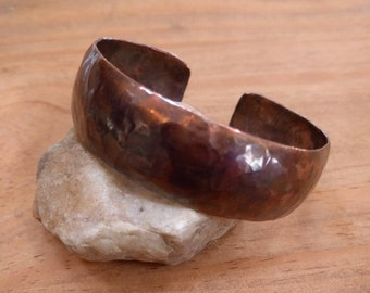 Hammered copper cuff bracelet, Copper jewelry, InnerSunCreations