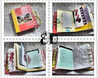 Handmade Junk Journal Children's Painting Art Journal Australian Letter Writer's Recycled Book *BONUS Ephemera/Scrap pack with all journals*