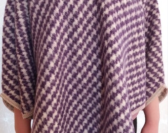 Purple/white bonzo with houndstooth pattern