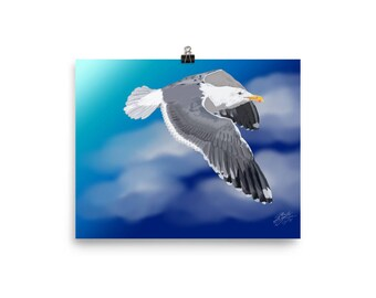 Flight of the Seagull Poster Print