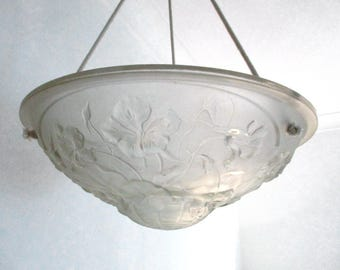 French Lamp Shade, Ceiling Light Shade, Glass Lampshade, French Vintage Glass, Glass Light Shade, Ceiling Lighting, Ceiling Lampshade