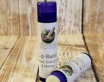 Moisturizing Beeswax Lip Balm with Coconut Oil and Honey