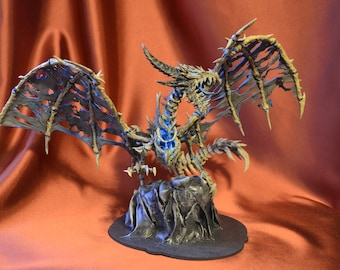 World of Warcraft Sindragosa WOW Figurine Statuette Figure OOAK glow in dark