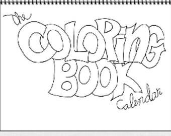 The Coloring Book Calendar