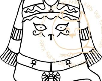 Digi Stamp Instant Download. Kleokatra - Knitty Kitty Digis No.47
