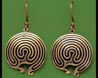 JERICHO LABYRINTH- Bronze- Earrings