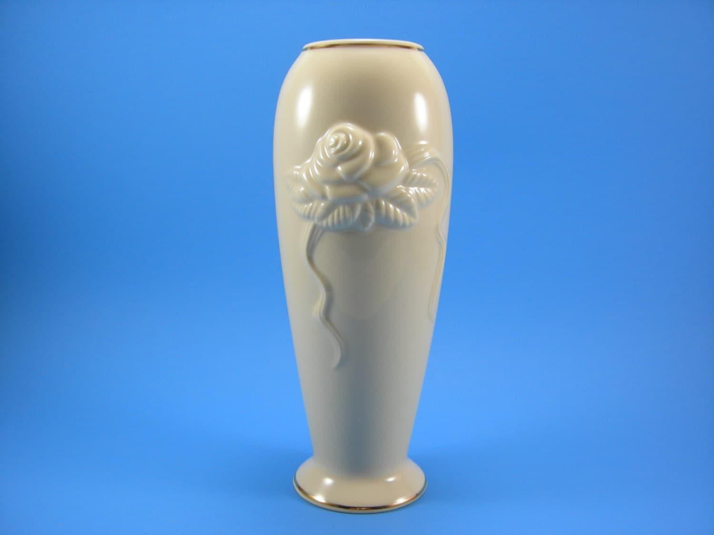 Vintage lenox rose blossom vase 24kt gold gilt trim zoom floridaeventfo Choice Image