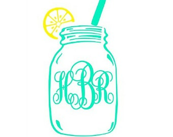 Mason Jar Personalized Decal