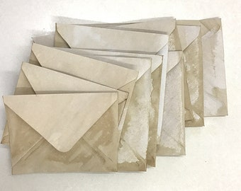 Coffee stained envelopes, junk journal supplies, scrapbooking, paper craft, planner pockets, tuck spots, vintage letters, journaling