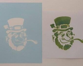 2 x Leprechaun face painting stencils - reusable many times   Irish Ireland  St Patrick's Day