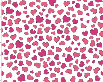 New Fabric ~ Mini Hearts White Color ~  Love Your Look Salon Collection by Loralie Harris for Loralie Fabrics