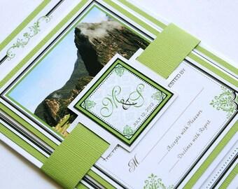 Destination Wedding Invitation and RSVP Wedding Suite - Machu Picchu, Peru