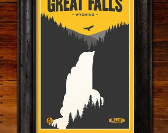 Yellowstone National Park: Great Falls Poster
