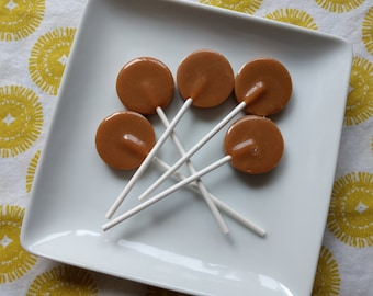 Toasted Coconut Caramel Lollipops, Coconut Candy, Coconut Lollipops, Caramel, Caramel Lollipops, Vegan Lollipops, Vegan Candy
