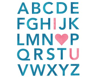 Large Alphabet Wall Decals - Custom Color Alphabet Fabric Wall Decals
