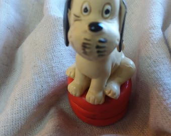 """Miniature of Loriot's cartoon dog """"Wum"""" from 1970's"""