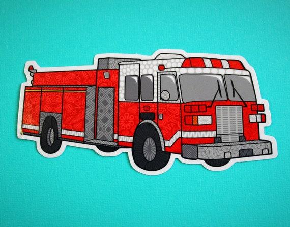 Fire Truck Sticker