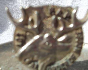 A moose head ash tray