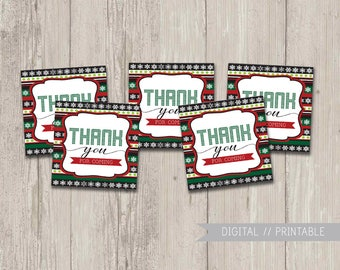 Ugly Sweater Party favor tags, Christmas Party favor tags, Holiday Party favor tags, printable