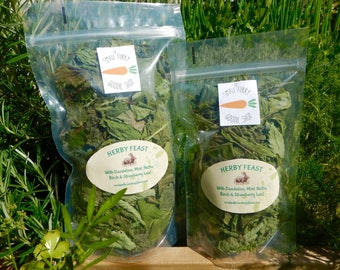 Herby feast,Dried organic medicinal herbs for Rabbits and Guinea pigs, now with added parsley and sage!