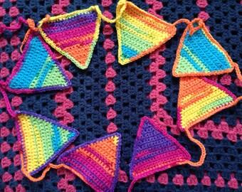 Rainbow Crochet Bunting