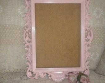 Lovely Pink Ornate Baroque Frame, Shabby Chic, Baby's Room, Cottage Chic, Mirror frame,Picture Frame, Chalkboard Frame