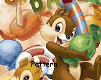 Chip & Dale #5. Cross Stitch Pattern. PDF Files.