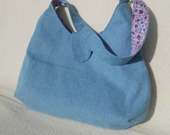 Handmade Denim Shoulder Bag