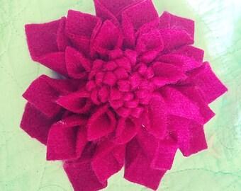 Flower hair clip beautiful handmade dahlia accessory.. 3 for 2