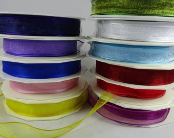 5/8 Inch Organdy Ribbon in 11 Colors