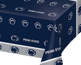 2-Pack Penn State University Nittany Lions  Premium Plastic Table Covers College Football Party