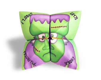 Digital Halloween cootie catcher / Halloween card / fortune teller / game / DIY toy / downloadable / printable / DIY greeting card