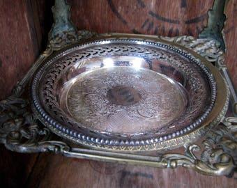 Barker Ellis Tray, Barker Ellis Silver, Round Silver Tray, Silver Dish, Serving Tray, Trinket Tray, Afternoon Tea, Vintage Silverware