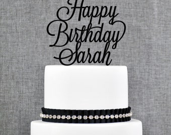 Birthday Cake Topper, Custom Cake Topper, Birthday Topper, Calligraphy Cake Topper, Custom Cake Topper, Personalized Cake Topper (T366)