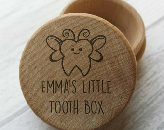 Personalised Wooden Tooth Fairy Box, Engraved, Child Tooth Box, Tooth Fairy, Keepsake, Tooth, Children (00214)