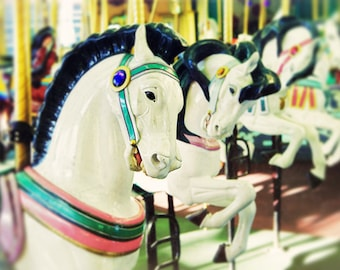 Santa Cruz boardwalk, Santa Cruz Carousel, Carousel art - Carousel I, photography large art print