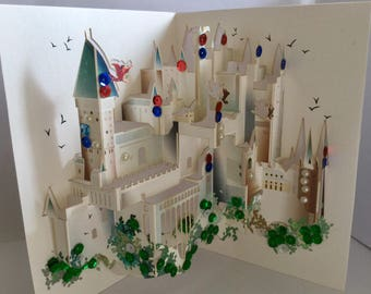 Harry Potter Hogwarts Castle Exclusive Happy Birthday/Valentines/Merry Christmas/For Him/Her/Get Well Soon/3D Handmade Pop Up Card