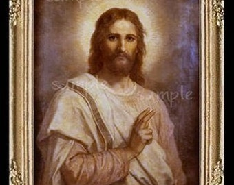 Jesus Miniature Dollhouse Art Picture 5006