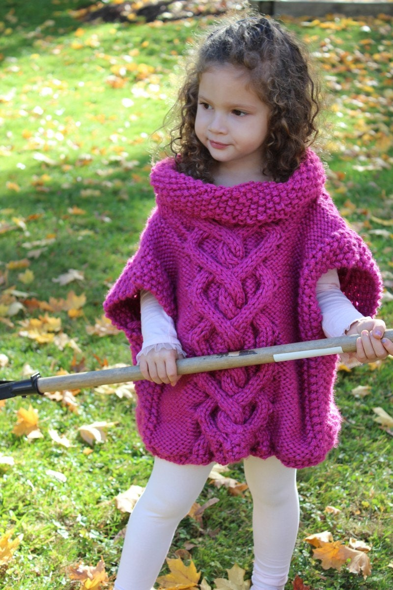 Cape KNITTING PATTERN The Kate Pullover Poncho toddler