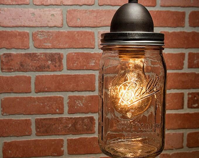 Mason Jar Pendant Light - FREE DOMESTIC SHIPPING