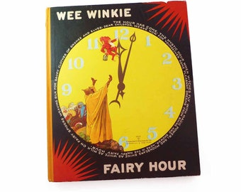 Wee Winkie Fairy Hour 1928 Charles E Graham Hardcover Dust Jacket First Edition Uncommon Fairy Tale Collection Cool Color Chromolithographs
