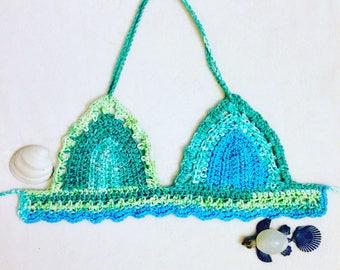Crochet Top, The Ocean Wave Crochet Top, Crochet Bikini, Crochet Bikini Top, Festival Top, Boho Top, Crochet Bralette, Crochet Crop Top