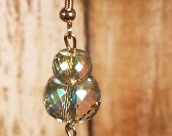 Beautiful Color Shifting Faceted Glass Bead Earrings