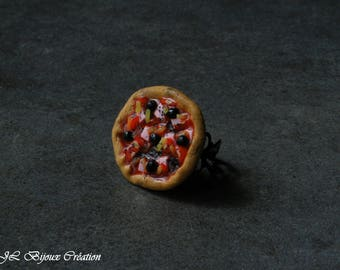 Polymer clay pizza ring