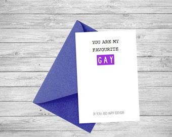 Favourite GAY Card - Happy Birthday!