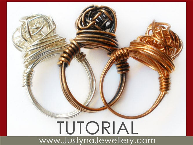 Wire Jewelry Tutorial Knot Ring Tutorial Knotted Ring
