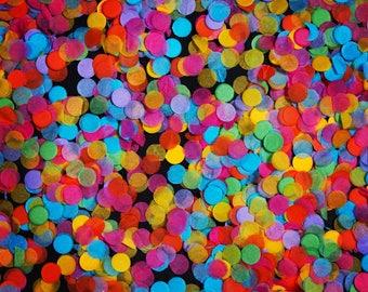 Mini Yellow, Pink, Green, Purple, Orange and Blue 'Colourful' Tissue Paper Confetti